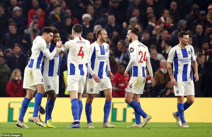 There were big smiles and wild celebrations from the Brighton players after their hard work saw them get a foothold in the tie