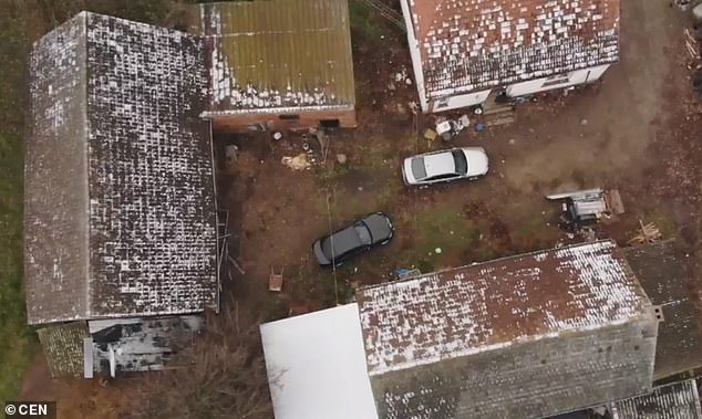 The house where the bodies of four babies were found by police on a farm in the village of Ciecierzynin Opolskie Voivodeship in south-western Poland