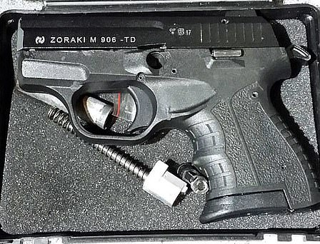 These guns were uncovered during raids by 25 police forces around the UK last month. They are easily available in Eastern Europe