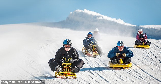 Need for speed: Tobogganing in Lillehammer, Norway