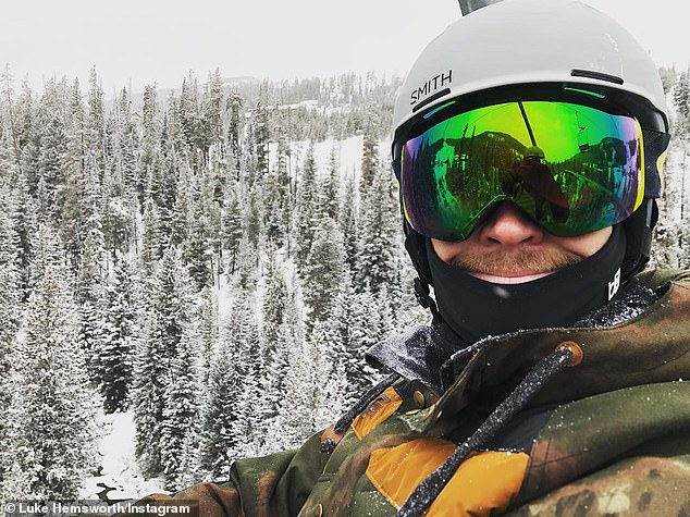 Snowy honeymoon: Cyrus and Hemsworth (pictured on Saturday) are now rumored to be honeymooning alongside Liam's big brothers Chris and Luke at a Montana ski resort