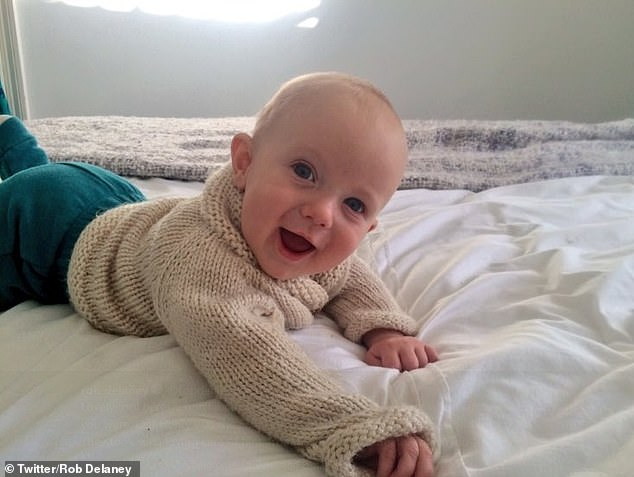 Tragic: Rob's young son Henry was diagnosed with a brain tumour in 2016 and had surgery to remove it, but the cancer returned in the Autumn of 2017