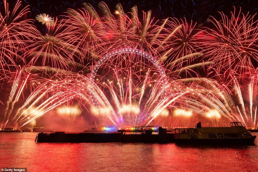 LONDON: The British capital will usher in 2019 by celebrating its relationship with Europe amid turmoil over Brexit, with the display at the London Eye to feature music from the continent's artists. This was the spectacular display in London last year