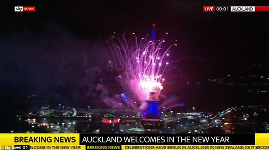 AUCKLAND: The sky was lit up with colour as the clock struck midnight in New Zealand. The party atmosphere is now set to sweep across major cities in Asia, Europe, Africa and the Americas