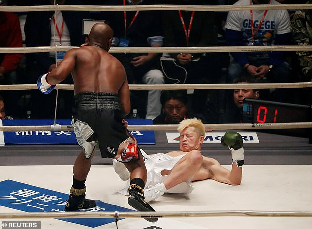Nasukawa is sent packing by Mayweather, who dominated his younger and lighter opponent