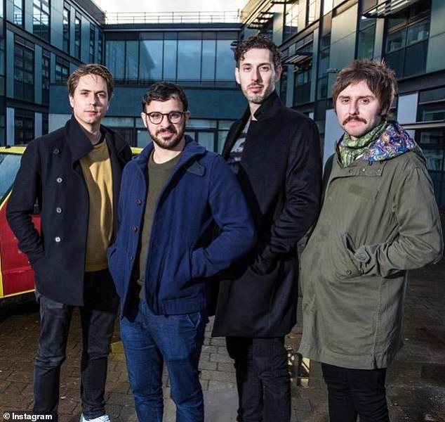 Unhappy:James Buckley revealed he felt like a 'f**king idiot' while filming the reunion show with Jimmy Carr and can't bring himself to watch it back