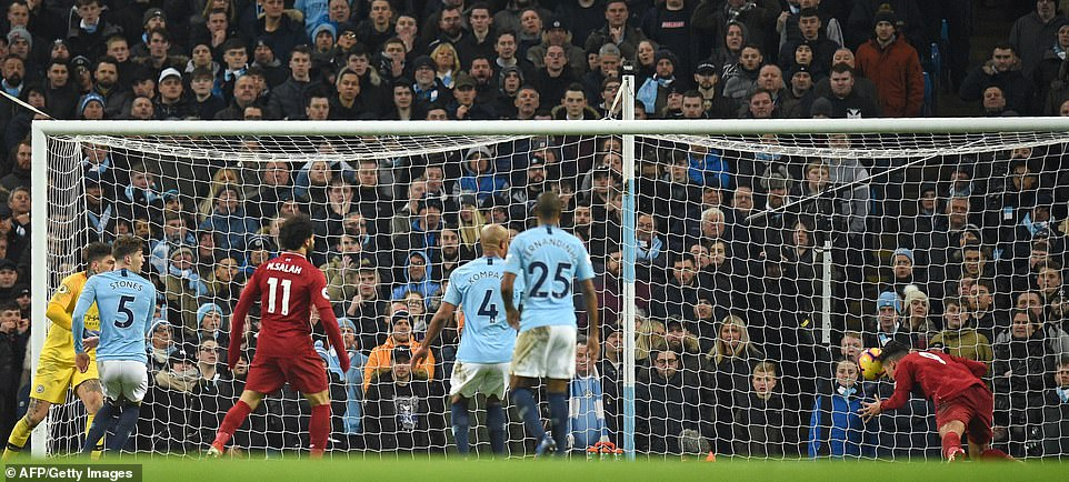 Liverpool forward Roberto Firmino equalised just after the hour mark with a header into an empty net
