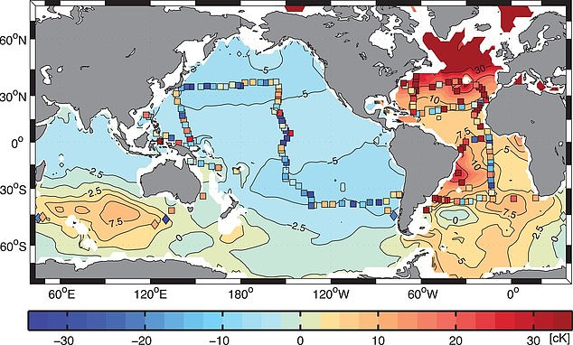 A Harvard study has found that parts of the deep Pacific may be getting cooler as the result of a climate phenomenon that occurred hundreds of years ago. The models suggestIn the deep  temperatures are dropping at a depth of around 2 kilometers (1.2 miles)
