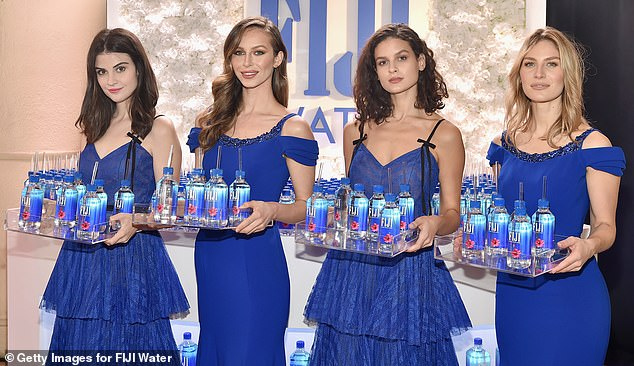 The stand-out: Kelleth was actually one of four Fiji water girls working at the event