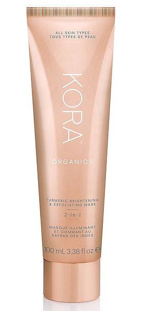 Masque éclaircissant et exfoliant au curcuma 2-en-1 Kora Organics (48 $)