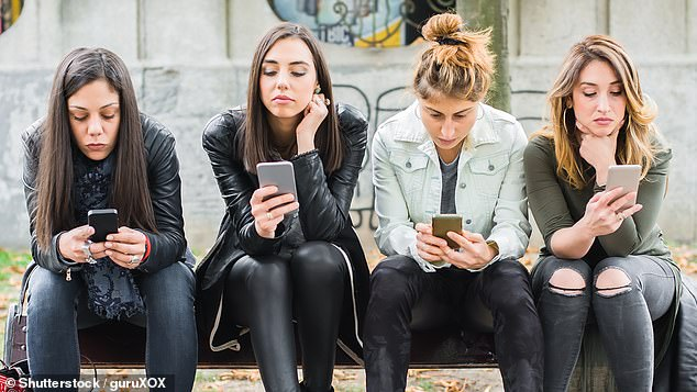 Young people were more likely to show signs of depression, if they agreed to focus on people better or worse off. than them on social media (stock)