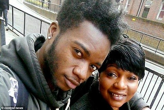 Student Bervil Kalikaka-Ekofo, 21, (left) was shot in the back of the head by the assassin, prompting his auntAnnie Besala Ekofo, 53, (right) to investigate. She was shot in the chest