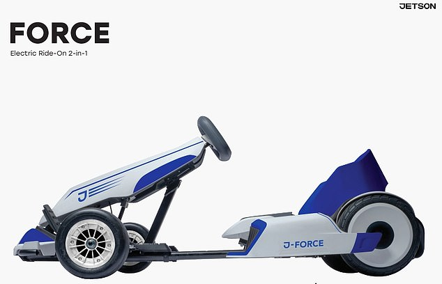 At CES, Jetson also showed off its 'go-kart for adults,' an electric go-kart that uses a hoverboard as its base and can go up to 10mph. It also showed off other hoverboards