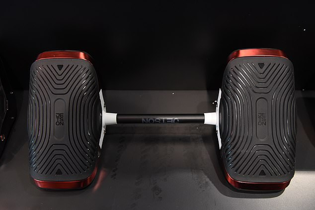 Jetson told MailOnline that the Motokicks can also transform into a hoverboard, with the addition of a device that connects the two shoes in the middle. The shoes cost $200 a pair