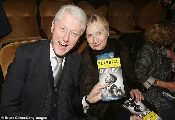 Clintons take in acclaimed Broadway play about a gay black ...