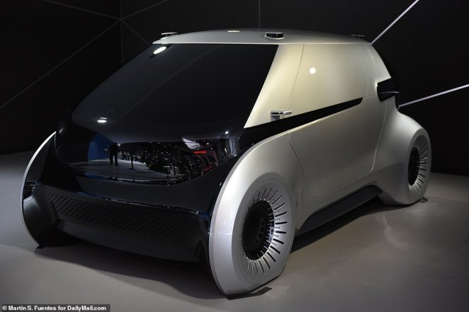One of the most eye-catching concept vehicles came from Hyundai's Mobis division, which debuted its 'car of tomorrow' that could become a reality as soon as 2025. It's designed to be a luxury concept car for people to get around