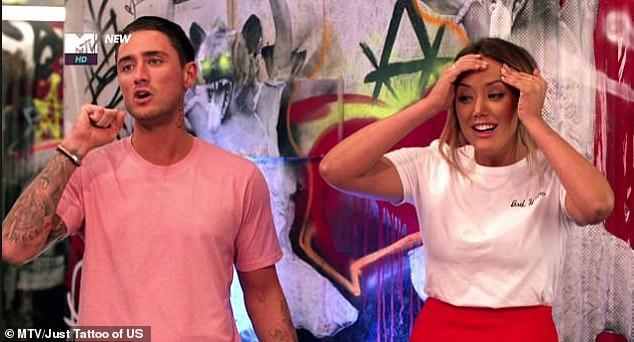 Widmung: Während ihres Auftritts auf MTVs Just Tattoo of Us (USA), entwarf Ex On The Beach-Star Stephen ihre passenden Fischfarben zu Ehren ihrer Romantik