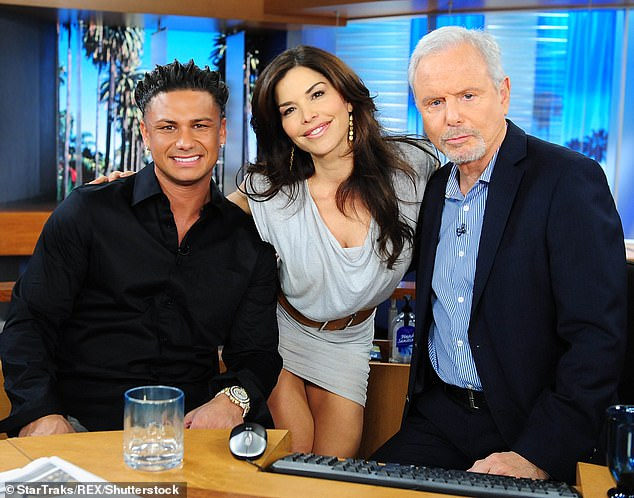 Sanchez was seen with Pauly D and his co-host Steve Edwards on Good Day LA in April 2012