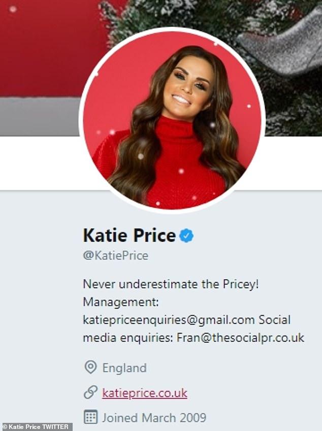 Da ist es so: Obwohl Katie den Link der Seite auf ihrer Twitter-Biografie belässt, wird den Fans eine längere Wartezeit entgegengebracht, bevor die Verbindung abläuft und eine leere Seite bleibt
