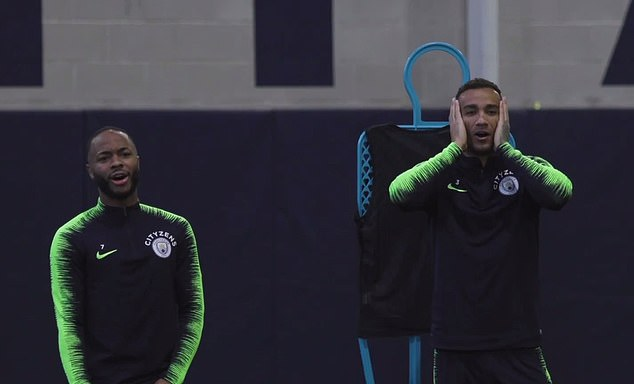 Sterling watched on open mouthed as Danilo puts his hand on his head in disbelief at the effort