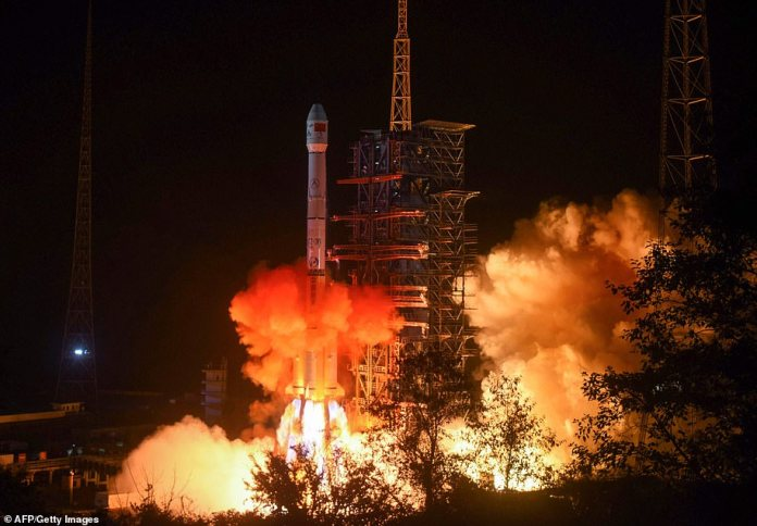 The Chang'e-4 lunar rover is lifted into spacefrom the Xichang launch centre in Xichang in China's southwestern Sichuan province on December 7