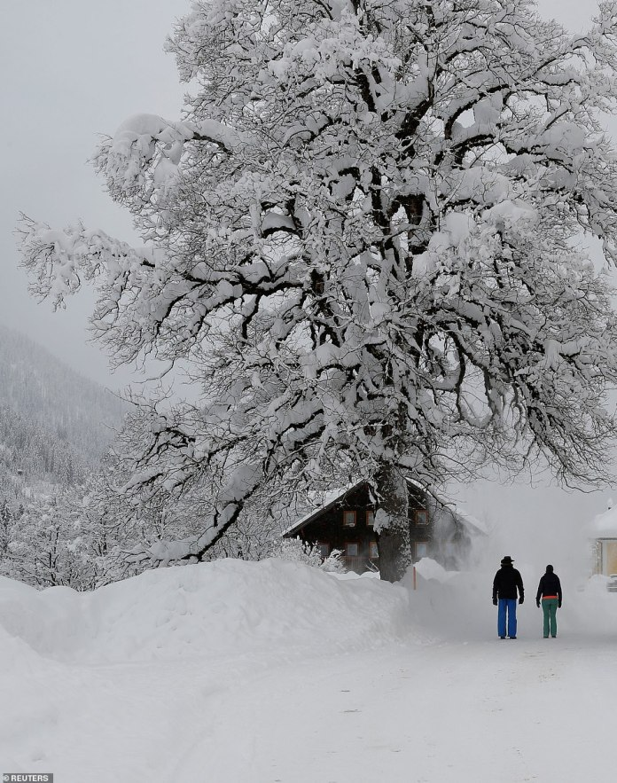 The death toll from the severe weather has risen to at least 17 as heavy snowfall continued to cause problems in Austria and southern Germany