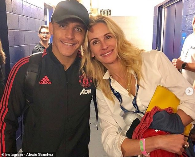 He posed for photos with some of the biggest stars in the game, including Alexis Sanchez