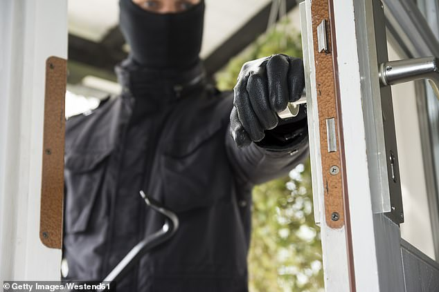 A thief broke into Mrs. Taylor's home in Eltham, south-east London, and looted him before confronting her in her bedroom (file image)
