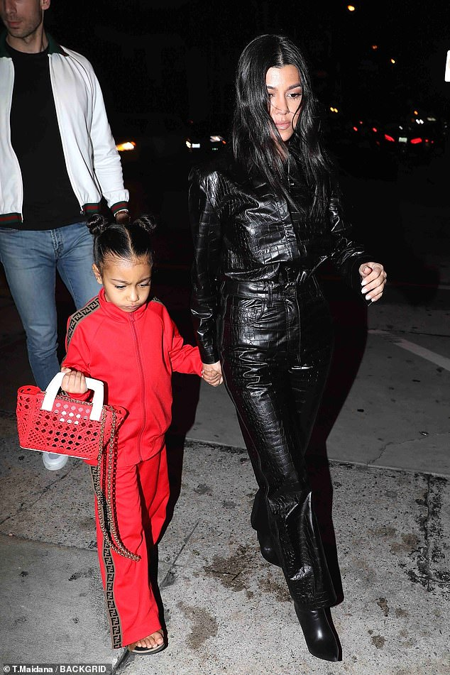 Returning home: the Kardashian family has recently returned from a winter vacation in Aspen to play in the new year