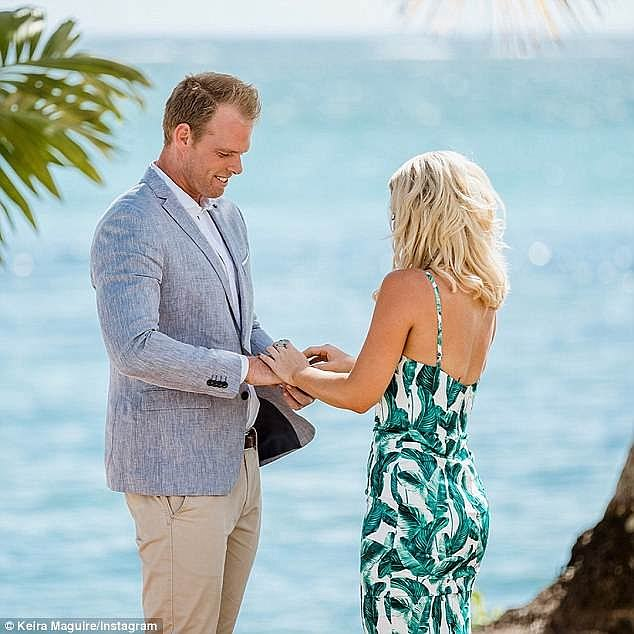 Making it work: The reality couple split up in August, just months after falling in love on Bachelor in Paradise