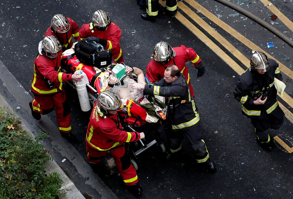 Officials said they are investigating the cause of the blast which is thought to have been caused by a gas explosion