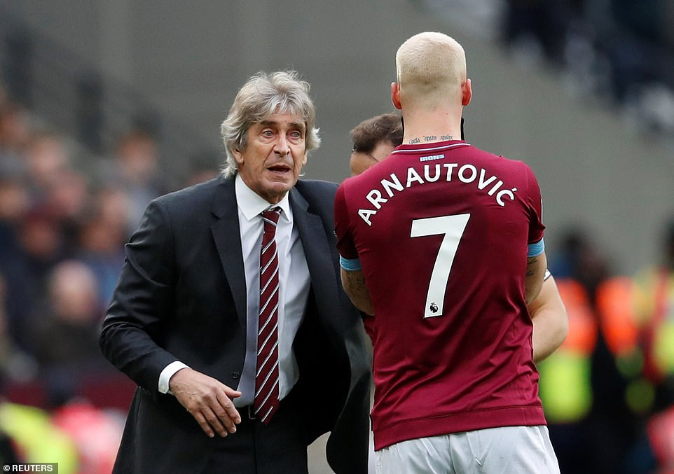 Manager Manuel Pellegrini was in constant dialogue with the Austrian attacker when he looked forward to transmitting his tactics
