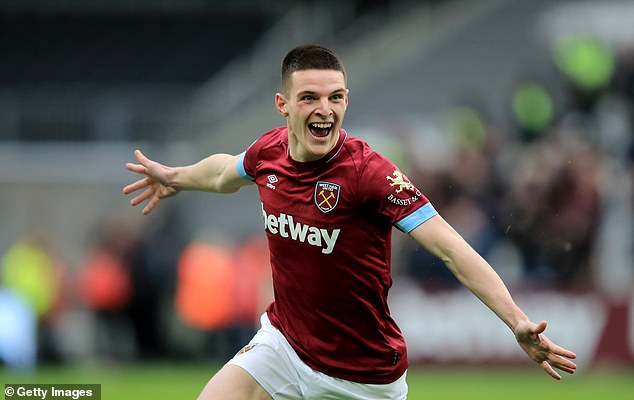 Declan Rice defeated Bernd Leno with a first-time shot after a good save by Samir Nasri