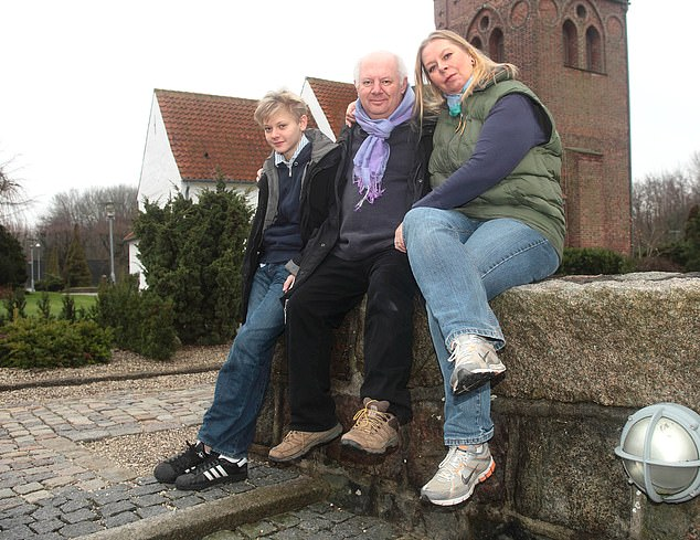 Former BBC correspondent Malcolm Brabant with his wife Trine Villemann and son Lukas in Copenhagen
