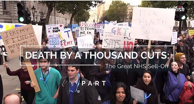 'Death by a Thousand Cuts: The Great NHS Sell-Off' is one of Redfish's YouTube videos