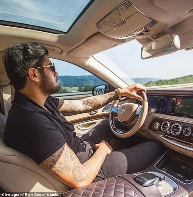 Kerim Büyük admires the surrounding Turkish countryside from the comfort of his VERY swish Mercedes