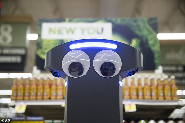 """The robots move using laser-based """"lidar"""" sensors and pause when consumers and their cars get on their path"""
