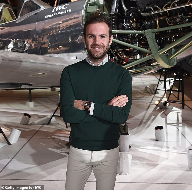 The Manchester United Mata star seemed to have fun at the event