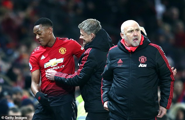 United's attacking, including Anthony Martial (L), have been given freedom under Solskjaer