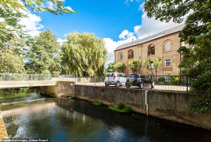"""Riverside: The charming country estate is on the banks of the Ivel River and on the edge of the """"peaceful town"""" of Biggleswade"""