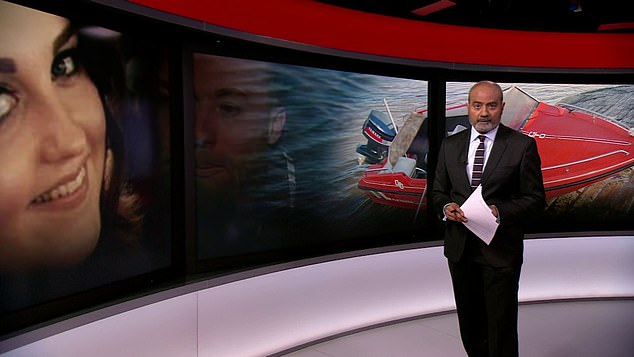 The BBC's George Alagiah presents the lead news item on the News at Six this evening, much to the joy of his colleagues and social media users