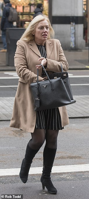 Donna Ball, 53, pictured today,is seeking £400,000 from Coutts bank for gender discrimination, equal pay and victimisation