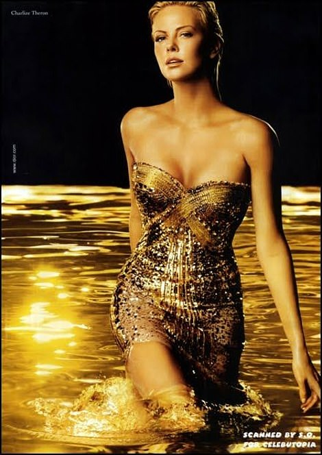 Charlize Theron has been the face of J'Adore by Dior since 2004