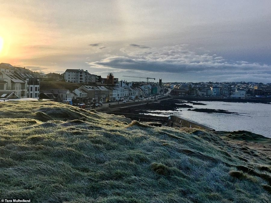 Frosty ground at Harbour Hill in Portstewart, Northern Ireland, in a photo by Tara Mulholland