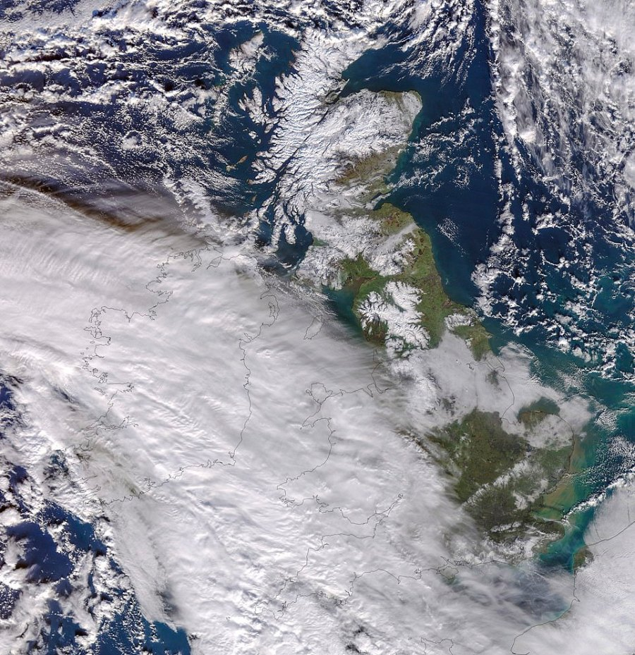 Images captured by the University of Dundee satellite receiving station today show the huge size of the weather system today