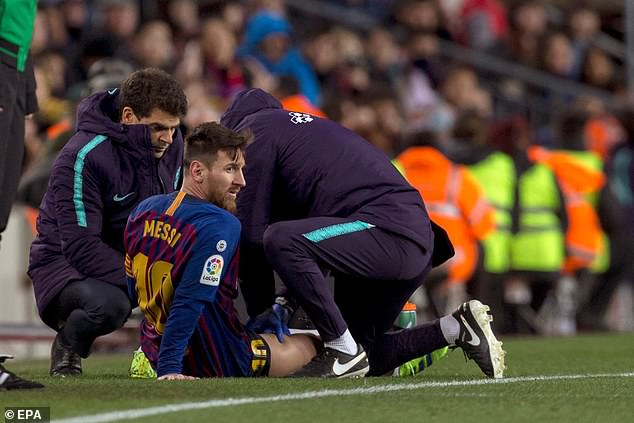 Lionel Messi has a 'small problem' after being injured against Valencia in La Liga on Saturday