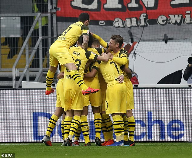 The Bundesliga leaders remain top with a seven point margin however, as Bayern Munich lost