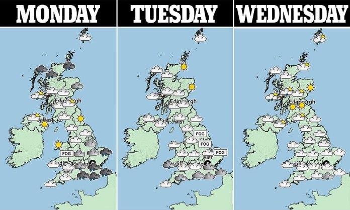 """Met-Forece-Prognostiker Simon Partridge sagte, """"die Dinge werden allmählich wieder normal"""", wenn Wind und Regen für einen """"traditionelleren Winter"""" unterwegs sind."""