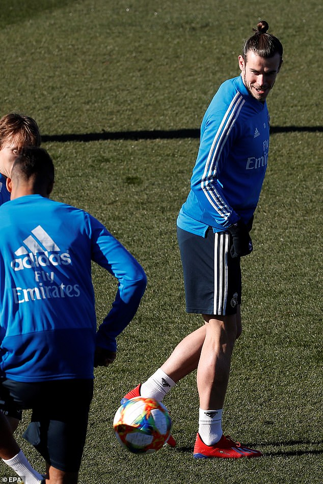 Welsh star Bale shows off his ball control as he pushes for inclusion in the Real team