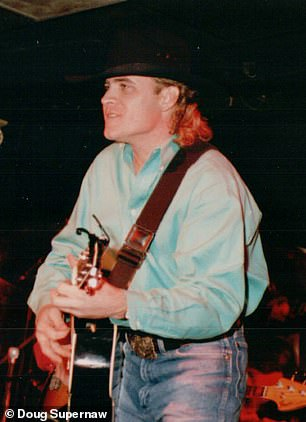After doctors ran tests and found fluid in Supernaw's heart and lungs, they found a 'suspicious mass' in his right lung and sent him to another hospital in Houston. Pictured: Supernaw in the 1990s